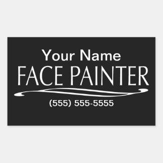 Plain Jain-Face Painter Rectangular Sticker