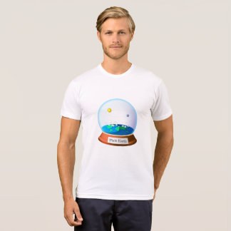 Plain land in a globe T-Shirt