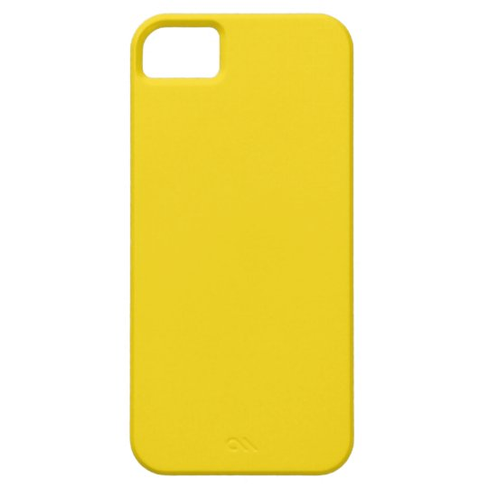 Plain Lemon Yellow iPhone 5/5S Case