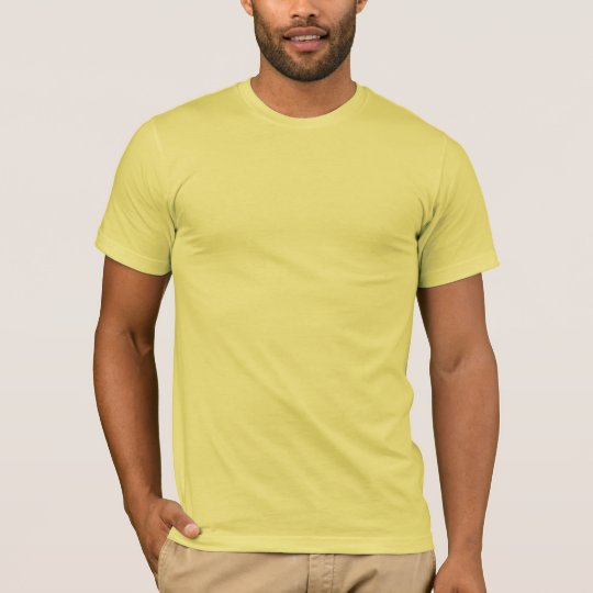 Plain Lemon Yellow Men's American Apparel T-Shirt