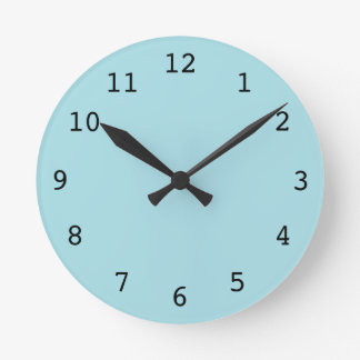 Plain light blue clock