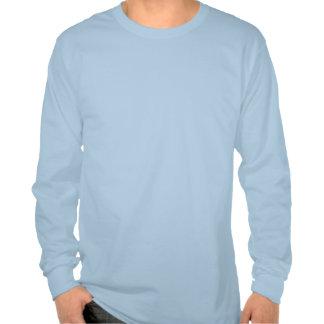 Plain Light Blue Mens Basic Long Sleeve T-shirt