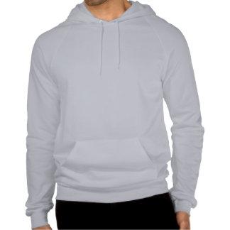 Plain light grey fleece pullover hoodie for men