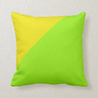 Plain Lime and yellow background Cushion