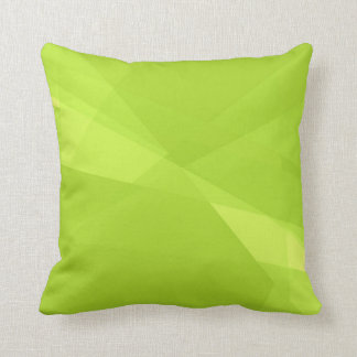 Plain Lime Green Background Cushion