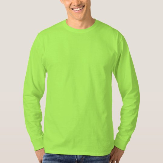 Plain lime green mens basic long sleeve t shirt for Neon green shirts for men