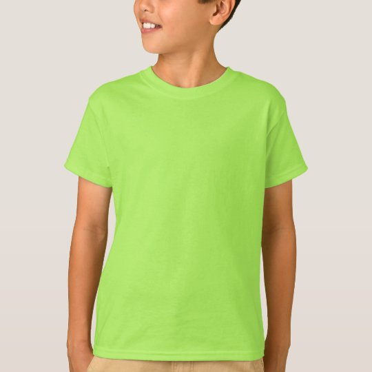 Plain lime green t-shirt for kids