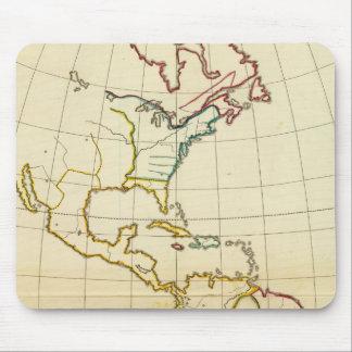 Plain map America Mouse Pad