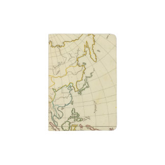 Plain map Asia Passport Holder