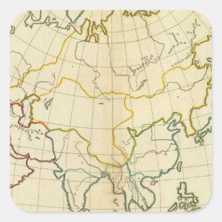 Plain map Asia Square Sticker