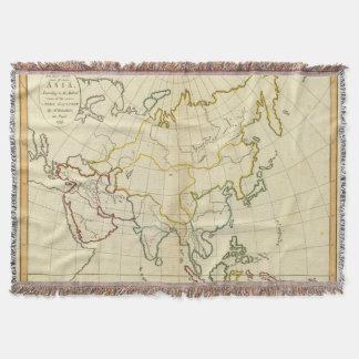 Plain map Asia Throw Blanket