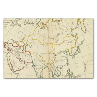 Plain map Asia Tissue Paper