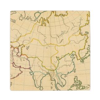Plain map Asia Wood Coaster