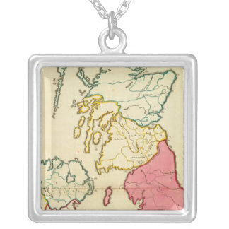 Plain map British Islands Silver Plated Necklace