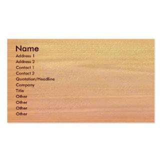 Plain Maple Wood Business Card