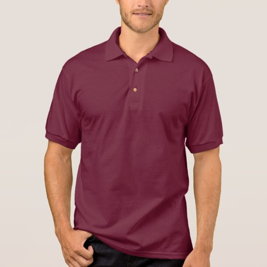 Plain Maroon Men's Gildan Jersey Polo Shirt