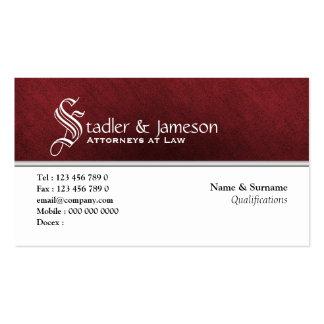Plain masculine monogram red white business card