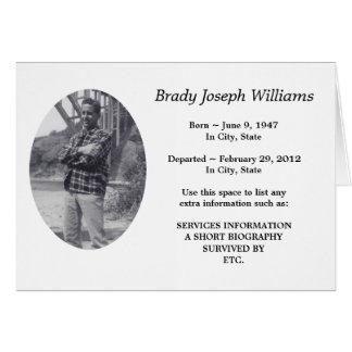 In memoriam cards photo card templates invitations more for In memoriam cards template