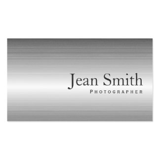 Plain Metal Photographer Business Card
