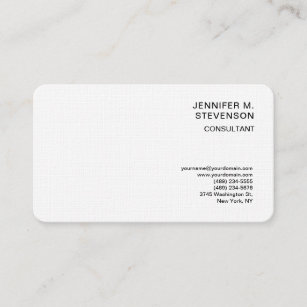 Electronic business cards zazzle uk plain minimalist simple white clean simple linen business card reheart Image collections