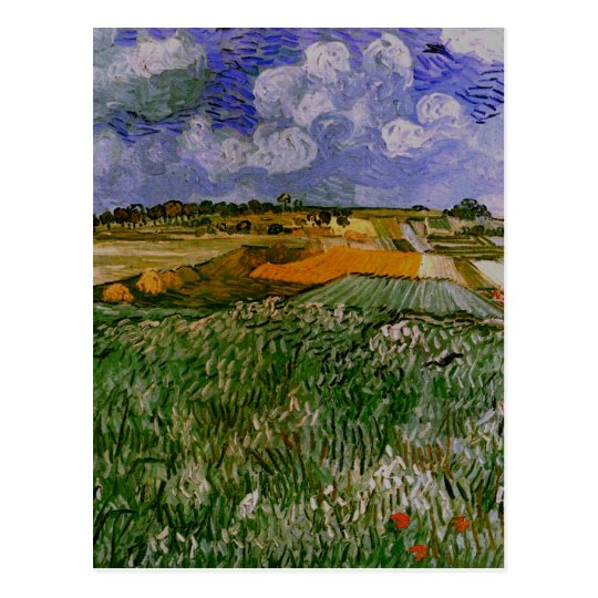 Plain Near Auvers, Van Gogh Fine Art Postcard