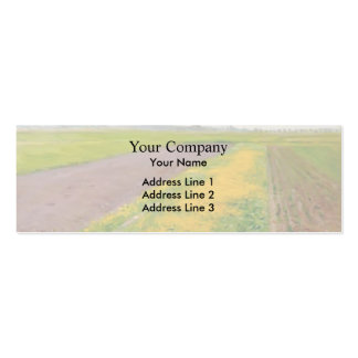 Plain of Gennevilliers by Gustave Caillebotte Pack Of Skinny Business Cards