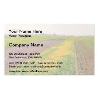Plain of Gennevilliers by Gustave Caillebotte Pack Of Standard Business Cards