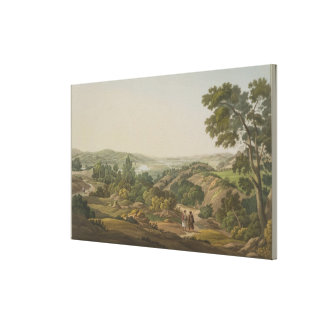 Plain of Olympia, plate 6 from Part 1 of 'Views in Canvas Print