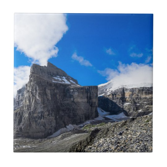 Plain of Six Glaciers Lake Louise Alberta Canada Small Square Tile