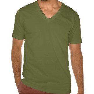 Plain olive green jersey v-neck t-shirt for men
