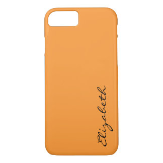 Plain Orange Background iPhone 7 Case