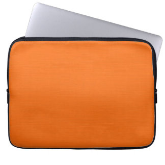 Plain Orange Background Laptop Sleeve