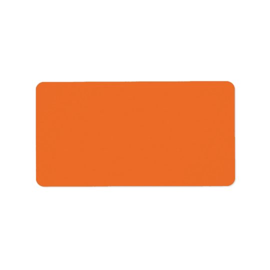 Plain orange background solid colour blank label