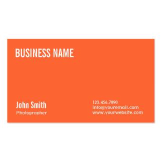 Plain Orange Photographer Business Card