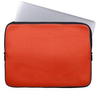 Plain orange red background laptop computer sleeve