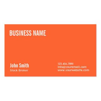 Plain Orange Stock Broker Business Card