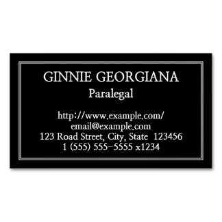 Plain Paralegal Magnetic Business Card Magnetic Business Cards