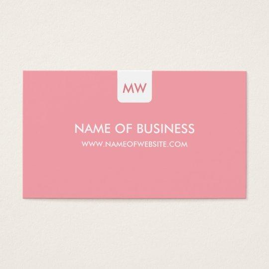 Plain Pink Chic Monogram Modern Social Media Business