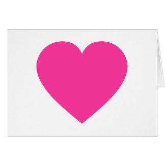 Plain Pink Heart Greeting Card