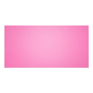 Plain pinkish texture holiday gift personalized photo card