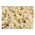 Plain popcorn close up. greeting card