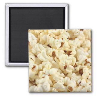 Plain popcorn close up. magnet