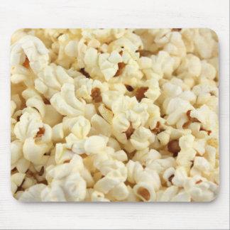Plain popcorn close up. mouse mat
