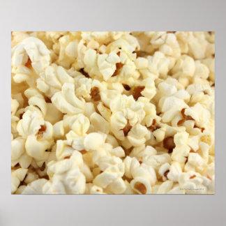 Plain popcorn close up. poster