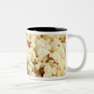 Plain popcorn close up. Two-Tone coffee mug