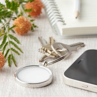 Plain premium round keychain