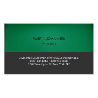 Plain Professional Green Grey Business Card