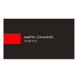 Plain Professional Red Grey Business Card