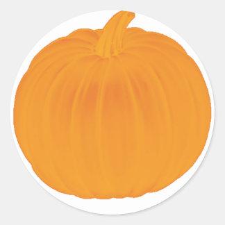 Plain Pumpkin Classic Round Sticker