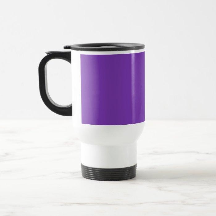 Plain Purple Background Travel Mug